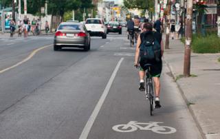 faixa de bicicleta no canadá
