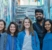 Da esquerda para direita,a colaboradora Jessica Sakaguchi, a diretora de projetos do COURB Mariana Morais, e os pesquisadores da LSE Larissa Heinisch, Ravi Anand, e Vaishnavi Shankar.